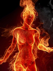 3D-Woman-On-Fire